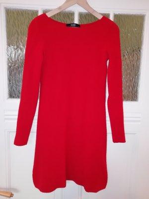 Hallhuber Woolen Dress dark red-brick red