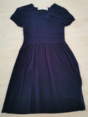 ZARAKNIT Vestido de lana azul oscuro