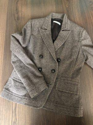 René Lezard Ladies' Suit light brown-natural white wool