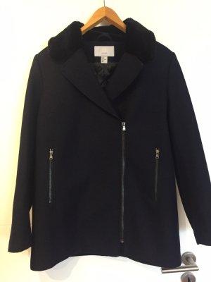 Wool-Blend H&M Manteau court bleu foncé