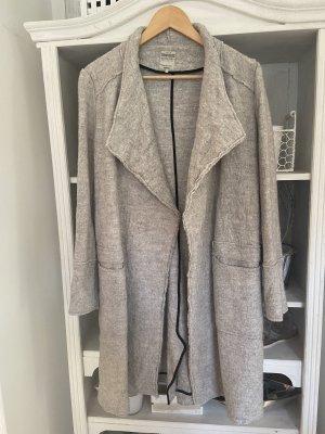 Zara Manteau en laine gris clair