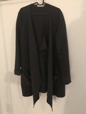 0039 Italy Abrigo de lana gris antracita