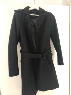 ALMA Pepe Jeans Wollen jas zwart