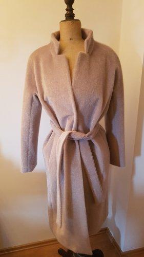 Herno Wełniany płaszcz jasnoszary-beżowy