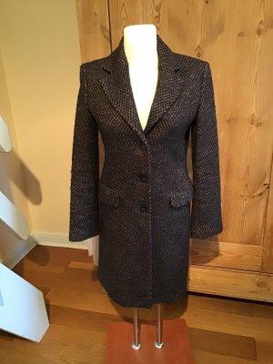 Caractère Manteau en laine brun noir