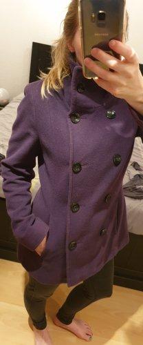 Christian Berg Cappotto in lana viola scuro