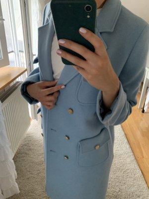 Benetton Abrigo de lana azul claro