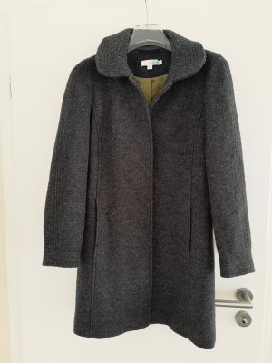 Boden Wool Coat dark grey-lime yellow