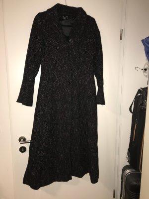 H&M Abrigo largo negro-blanco