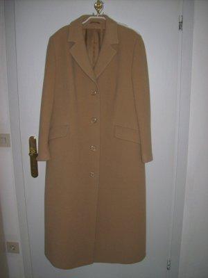 Abrigo de lana camel tejido mezclado