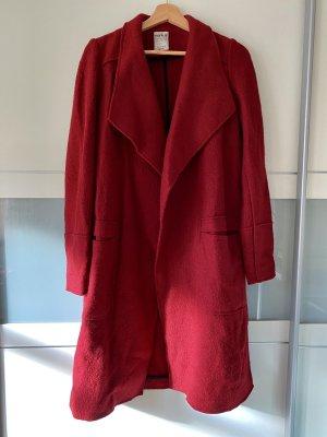 Zara Trafaluc Manteau en laine rouge foncé