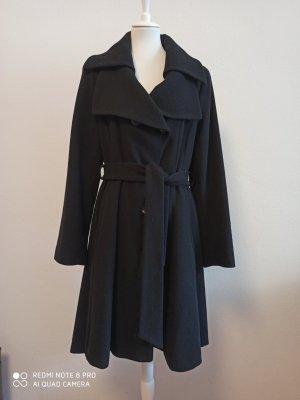 Erich Fend Abrigo de lana negro