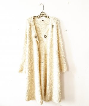 Free People Knitted Coat natural white-cream