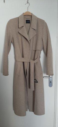Selected Femme Manteau en laine gris brun