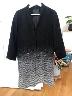 YAS Cappotto in lana nero-grigio
