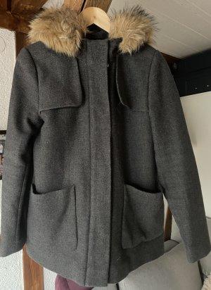 Hallhuber Manteau en fausse fourrure gris laine
