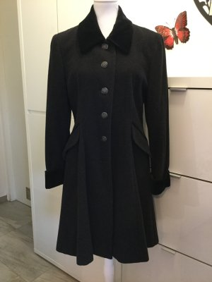 Yessica Cappotto in lana nero-argento Lana vergine