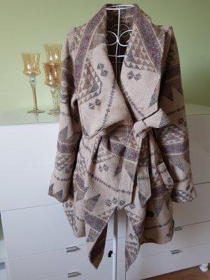 Abrigo de lana multicolor