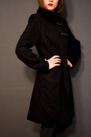 Kookai Cappotto in lana nero Lana