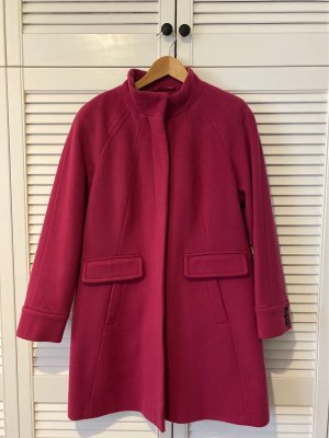 Lands' End Cappotto in lana rosso lampone