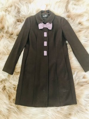 Love Moschino Wool Coat dark brown