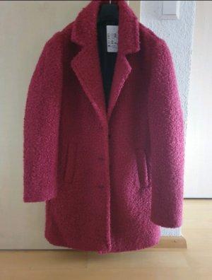 Wollmantel Mantel rot neu mit Etikett