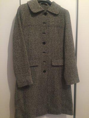 Wollmantel Mantel schwarz weis Gr S 36