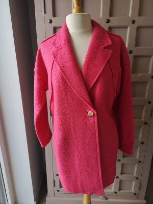 PULZ Jeans Wool Coat raspberry-red