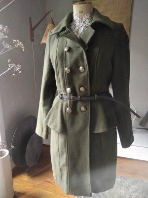Rainbow Wool Coat dark green-khaki