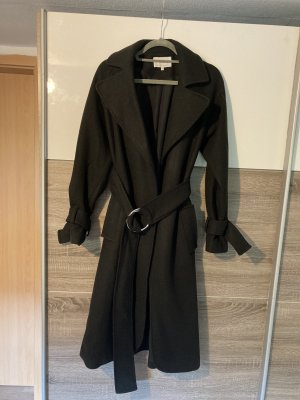 Mint&berry Wool Coat black-silver-colored