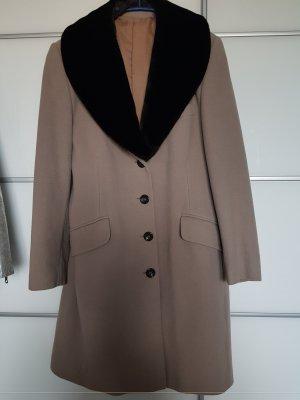 Wool Coat dark brown-oatmeal