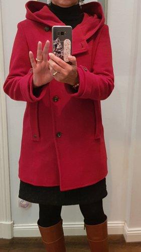 Marc O'Polo Hooded Coat carmine-dark red wool