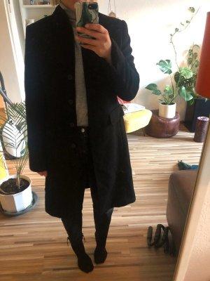 Wollmantel mit leichtem Stehkragen von Windsor in schwarz