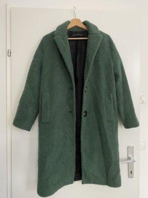 Zara Woman Manteau en fausse fourrure vert forêt-kaki