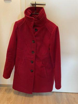 C&A Wełniany płaszcz ciemnoczerwony