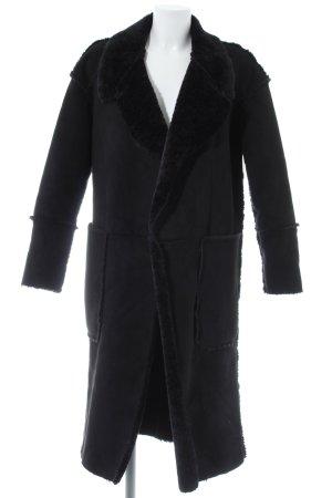 Wollmantel schwarz Elegant