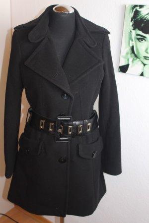 Wollen jas zwart