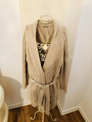 Closed Manteau en tricot blanc cassé-gris clair