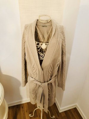 Closed Knitted Coat natural white-light grey