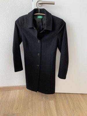 Benetton Wollen jas zwart