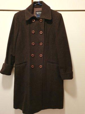 Brax Cappotto in lana marrone-marrone scuro