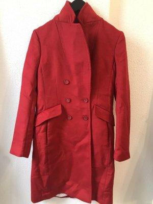 H&M Premium Wool Coat red wool