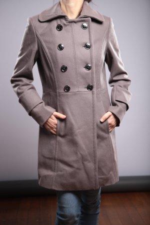 Abrigo de lana gris claro