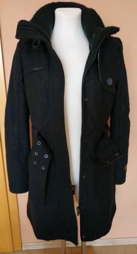 Khujo Manteau en laine noir laine