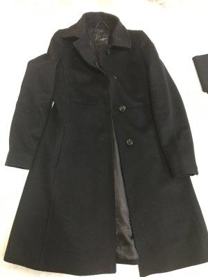 Weekend Max Mara Wełniany płaszcz czarny Wełna z alpaki
