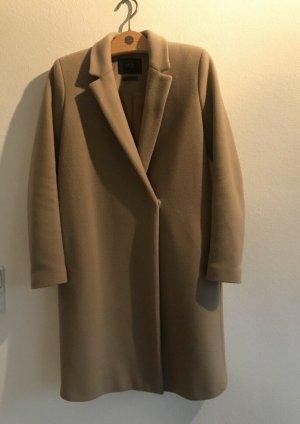 Set Cappotto in lana beige-color cammello