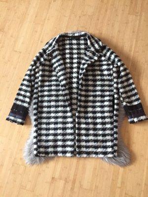 Veste en laine noir-blanc