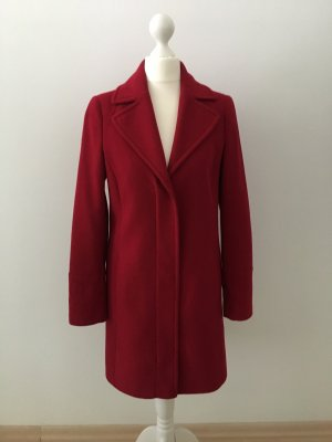 United Colors of Benetton Manteau en laine rouge foncé-rouge brique