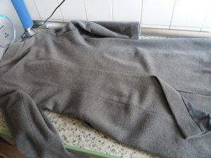 Frock Coat silver-colored-light grey wool