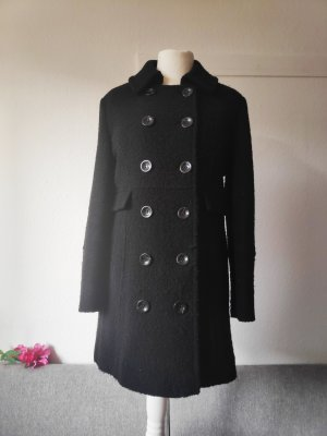 Wollmantel Wintermantel Mantel schwarz Größe 40